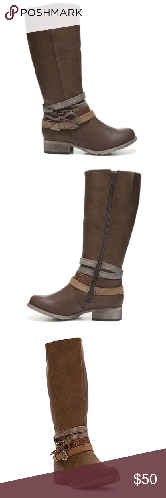 Jellypop Jassina Riding Boot Brand new in box.  Beautiful boots, very comfortable, I just don't need them.  I have fairly large calves and these fit, however they are more fitted against my leg.  It depends how closely you prefer they hug your leg! Jellypop Shoes Winter & Rain Boots