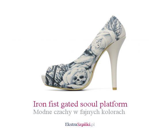 szpilki czaszki - Iron fist gated sooul platform - Modne czachy w fajnych kolorach