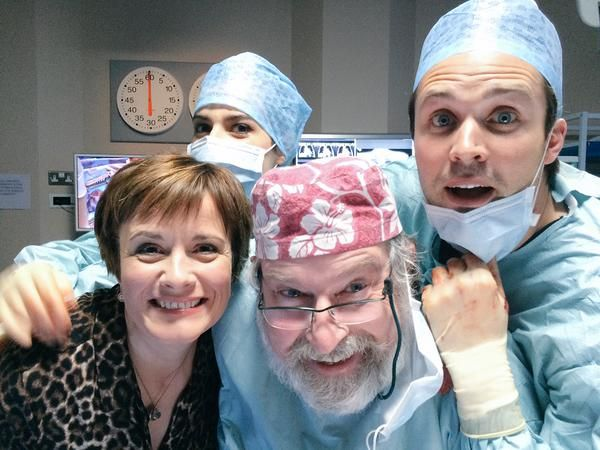 Catherine Russell (Serena), Paul Bradley (Elliot), James Anderson (Oliver) and Camilla Arfwedson (Zosia)