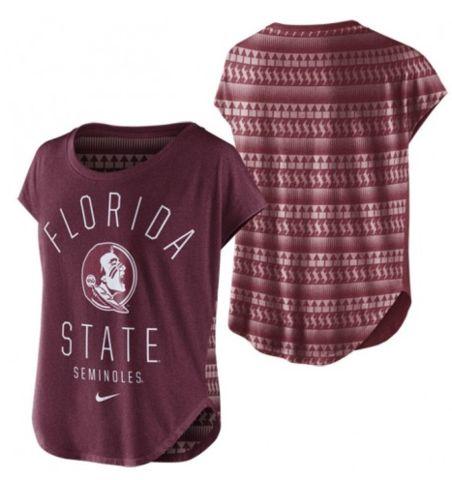NCAA Florida State Seminoles Nike Womens Game Day Signal Tri-Blend T-Shirt