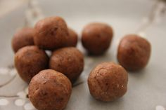 Raw salted caramel balls. Little White Lotus.