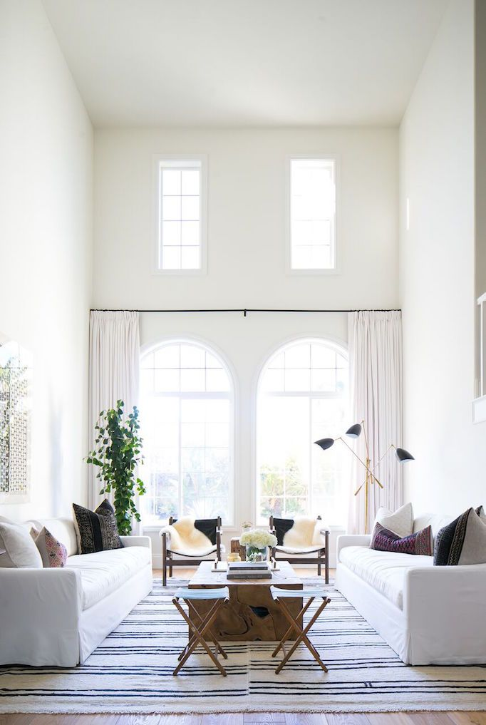 Gorgeously Simple And Modern Bright Light White Airy Living Room By Becki Owens I Absolutely LOVE The Incredibly Long Gorgeous Soft Colored