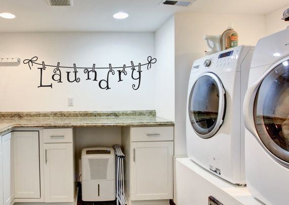 Beautiful Laundry Wall Decal Wall Decal Laundry By FourPeasinaPodVinyl Part 12