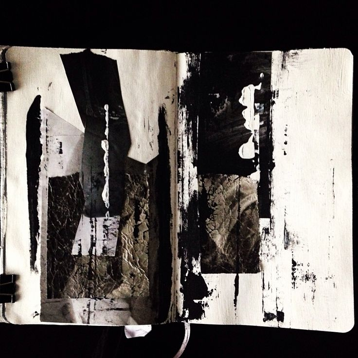 sketchbook/art/collage/drawing/mixed media