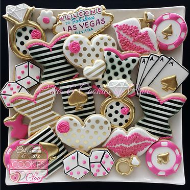 Kate Spade inspired Bridal, Las Vegas Bachelorette, Lingerie Corset Cookies