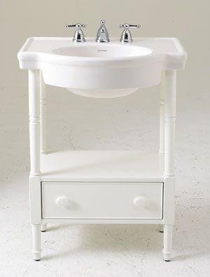 Love The Pedestal Sink With Storage