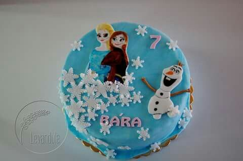 Frozen cake, dort Ledové království