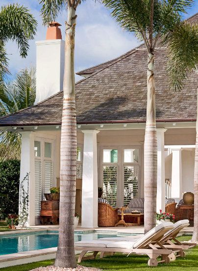 Pool cabana but I would prefer straight square pillars
