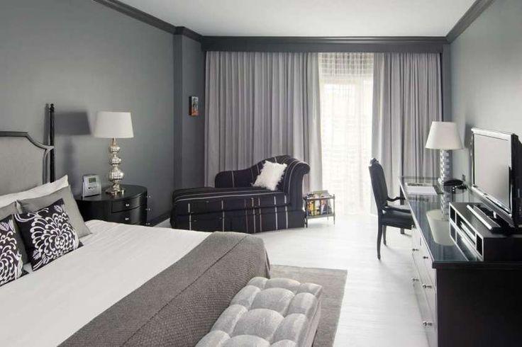 Idee camera da letto color tortora - Camera da letto tortora e nera