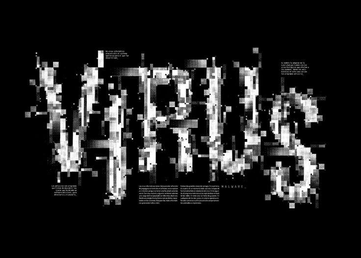 #typography #typographicposters #virus #malware #poster #design