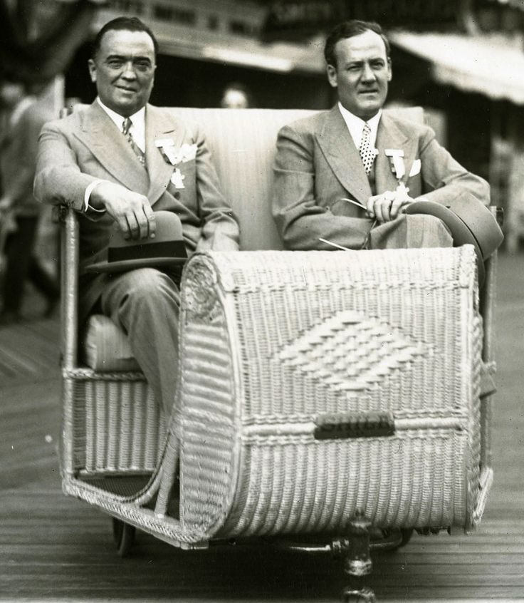 Hoover and his boyfriend Clyde Tolson, whom Hoover maintained as the number 2 man at the FBI. They were inseparable, eating every meal together and taking their vacations together.