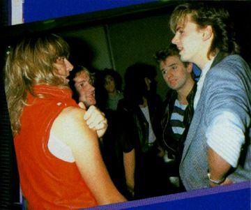 John and Roger with Joe Elliot and Phil Collen of Def Leppard