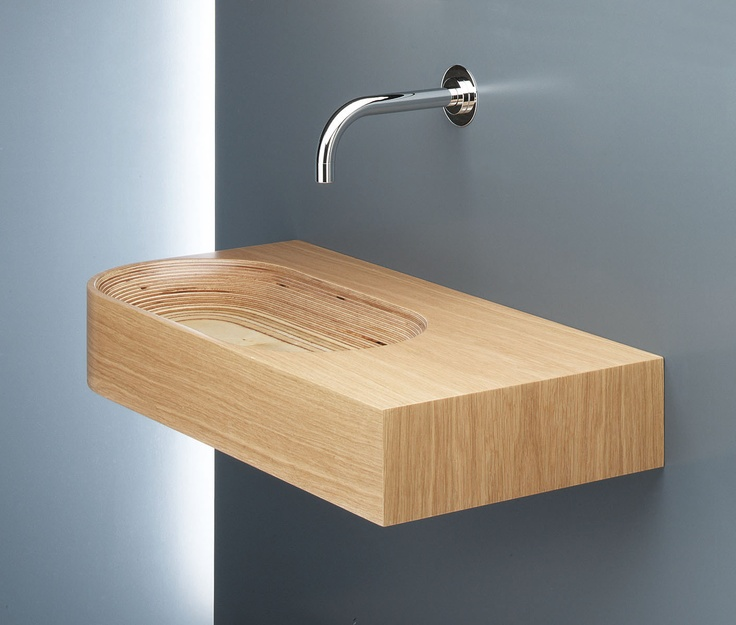 Shop For The WS Bath Collections Limbus 1 BO Birch / Oak Wall Mounted Or  Self Rimming Wooden Bathroom Sink ... Part 50