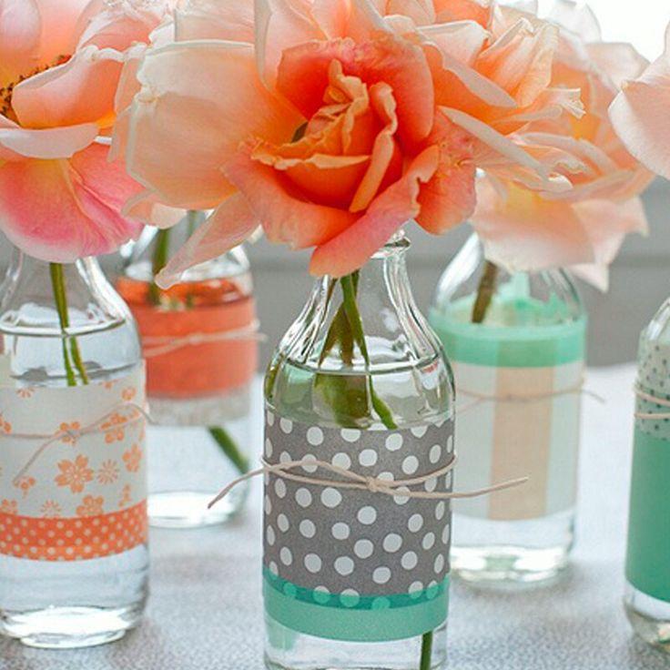 Recycle...soda bottles as center pieces