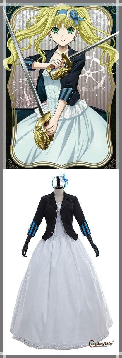 Black Bulter Buch von Atlantic Elizabeth Midford Cosplay Custume Blue Kleid für …