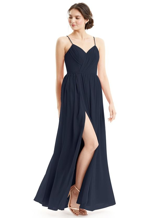 522af34af07 Black   Floor Length   Chiffon or Mesh Bridesmaid Dresses. Azazie Cora