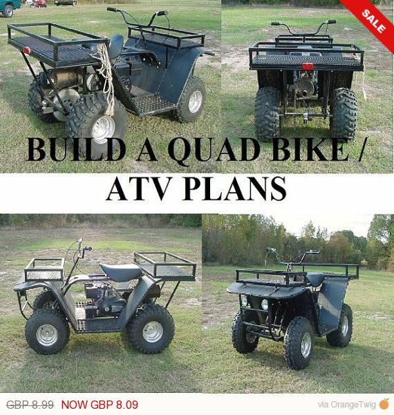 BUILD YOUR OWN OFF ROAD BUGGY /QUAD BIKE/ATV AND MUCH MORE WITH THIS BUILD YOUR OWN SPECIAL PC DATA DISC PACK Picture This pack contains full colour plans to build a quad bike / atv in PC DATA DISC form and in a protective folder. what ever your budget this pack will enable anyone to buy or recycle things you all ready have into an awesome atv machine, DIG THAT OLD PETROL LAWN MOWER OUT STICK A SEAT AND 4 WHEELS IN AND AWAY YOU GO which ever ATV you choose i have included e...