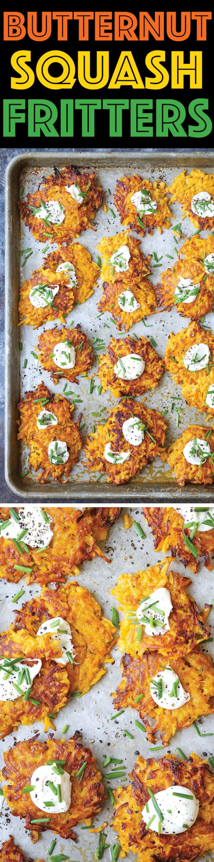 Butternut Squash Fritters - These are easier to make than you think, low…