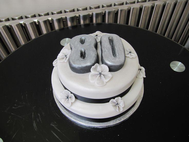 Close up of 80th birthday cake
