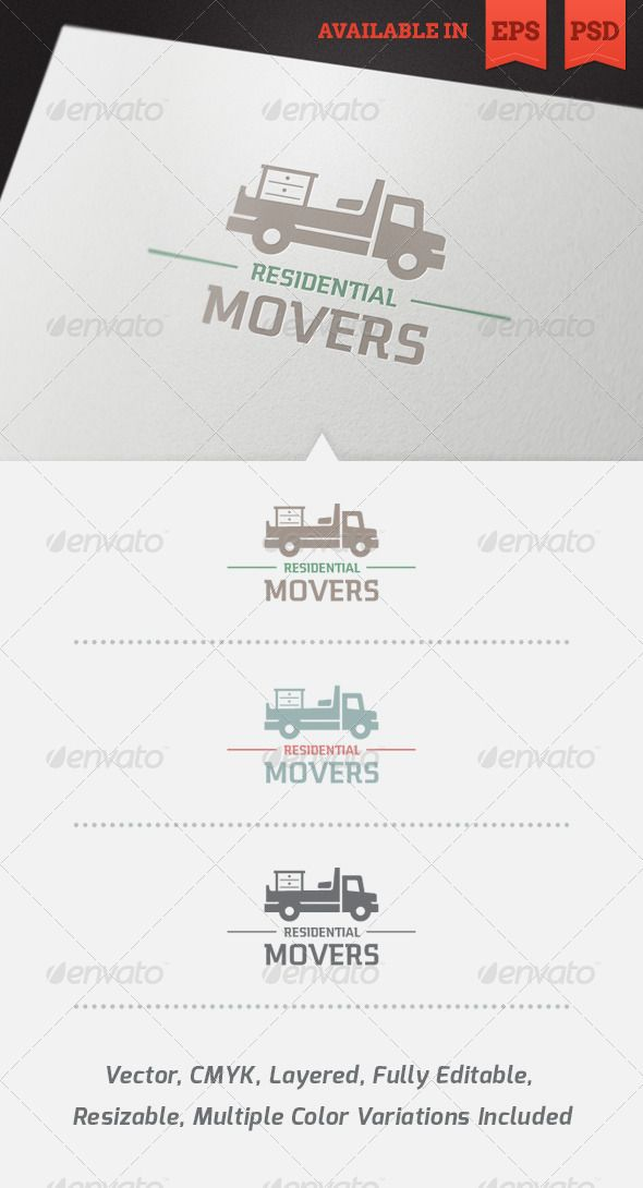 Residential Movers Logo Template