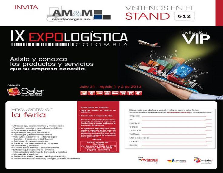 Te invitamos a visitar nuestro stand 612 en la IX versión de la Feria Expologistica Colombia.