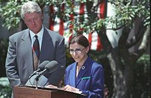 Ruth Bader Ginsburg - Ginsburg officially accepts the nomination from President Bill Clinton on June 14, 1993.