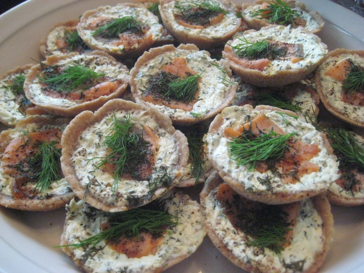 Cold-smoked salmon pies made by my sister