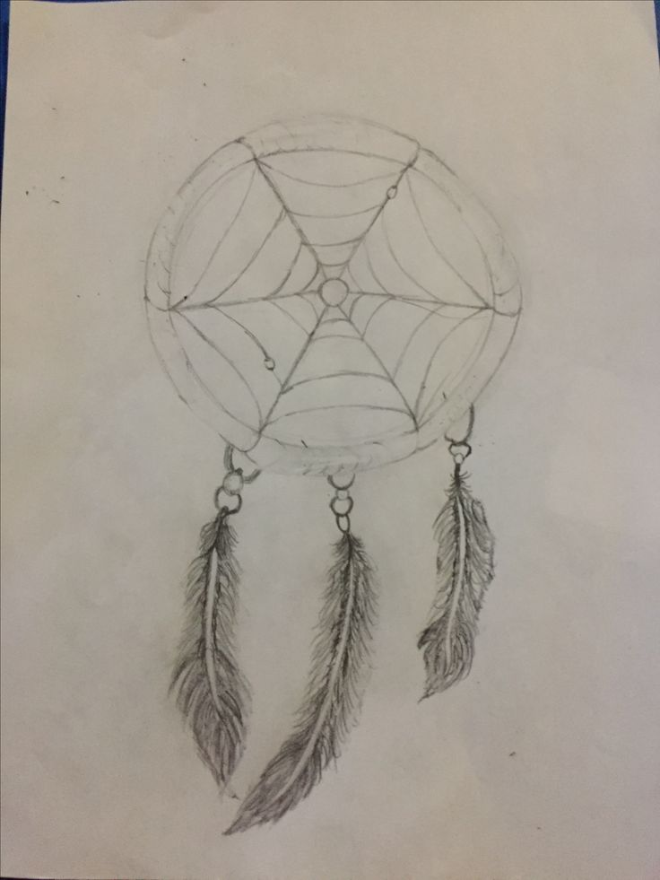 I drew a dream catcher for a great friend of mine. This is before I coloured it.