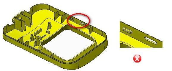 Undercut Detection guidelines in Injection Molding