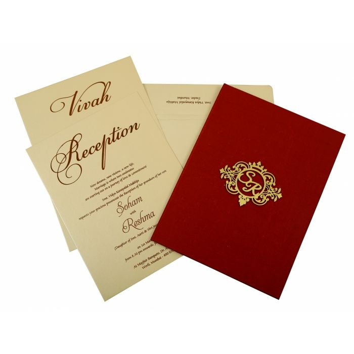 Maroon Satin Box Themed Wedding Invitation In 1845 123weddingcards In Themed Wedding Invitations Elegant Wedding Invitation Design Fun Wedding Invitations