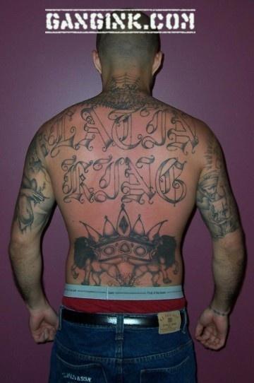 Latin Kings Gang Tattoos 84