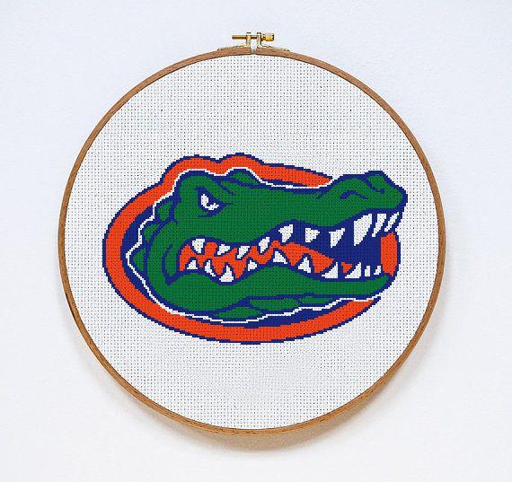 Florida Gators Football Logo Counted Cross Stitch Pattern
