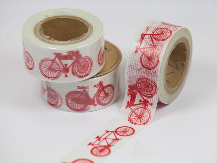 Masking Tape - washi tape Vintage Fahrrad, washi tape Fahrräder   - ein Designerstück von watsonLABEL bei DaWanda