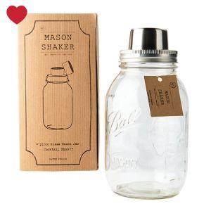 Mason Jar Cocktail Shaker - een unieke 4-delige cocktail shaker met het karakter van de Zuidelijke staten van Amerika @Jetjes & Jobjes