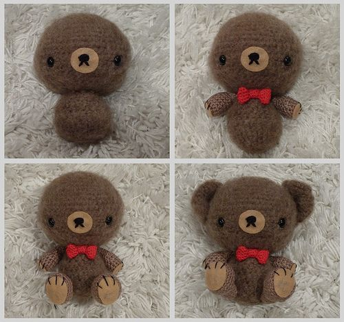 Make a teddy bear for your #valentine with this #tutorial!
