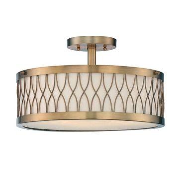 Spinnaker Ceiling Semi-Flush Light | Savoy House at Lightology