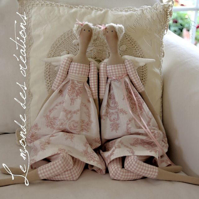 Le monde des créations, toile like fabric and gingham, so cute!