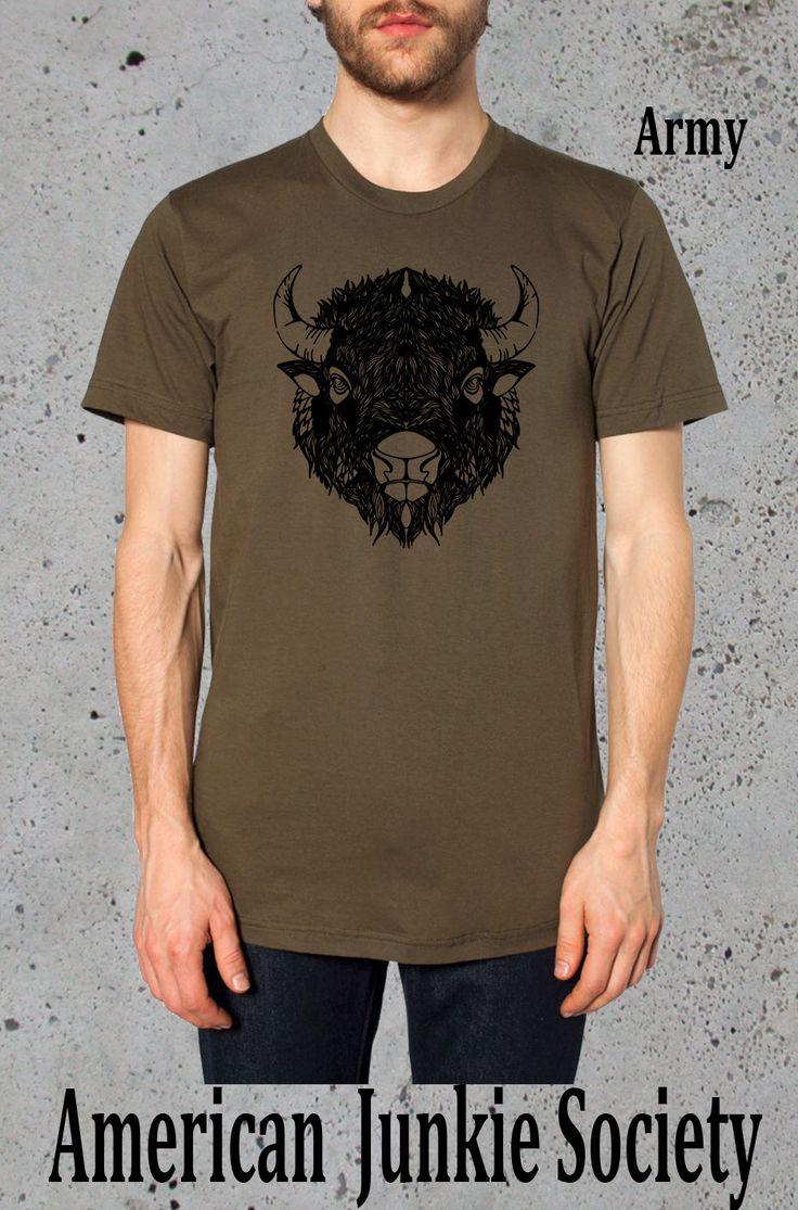 Bison Buffalo T Shirt__Boyfriend GiftMens Graphic Tee(Native American Clothing,)Instagram Like~American Apparel TShirt, for him Men's ' by AmericanJunkieSoc on Etsy https://www.etsy.com/listing/205851933/bison-buffalo-t-shirtboyfriend-giftmens