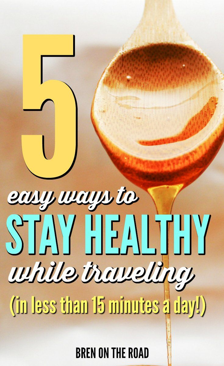 Sick of coming home from your trips fat, sick and…