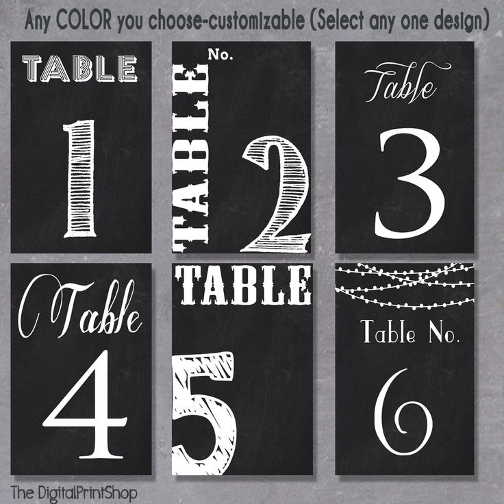 1-15 Custom Chalkboard Table Numbers Sign Wedding Reception Decoration Digital Personalized Printable Art, downloadable .jpg (01) by DigitalPrintShop on Etsy