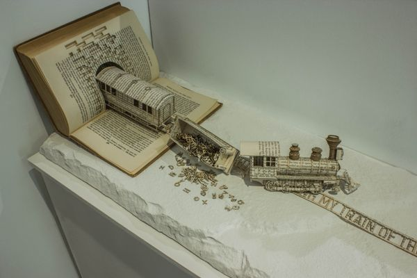Book Sculptures     Edinburgh-based graphic design student Thomas Wightman has produced a trio of astounding book sculptures for his graduation project.