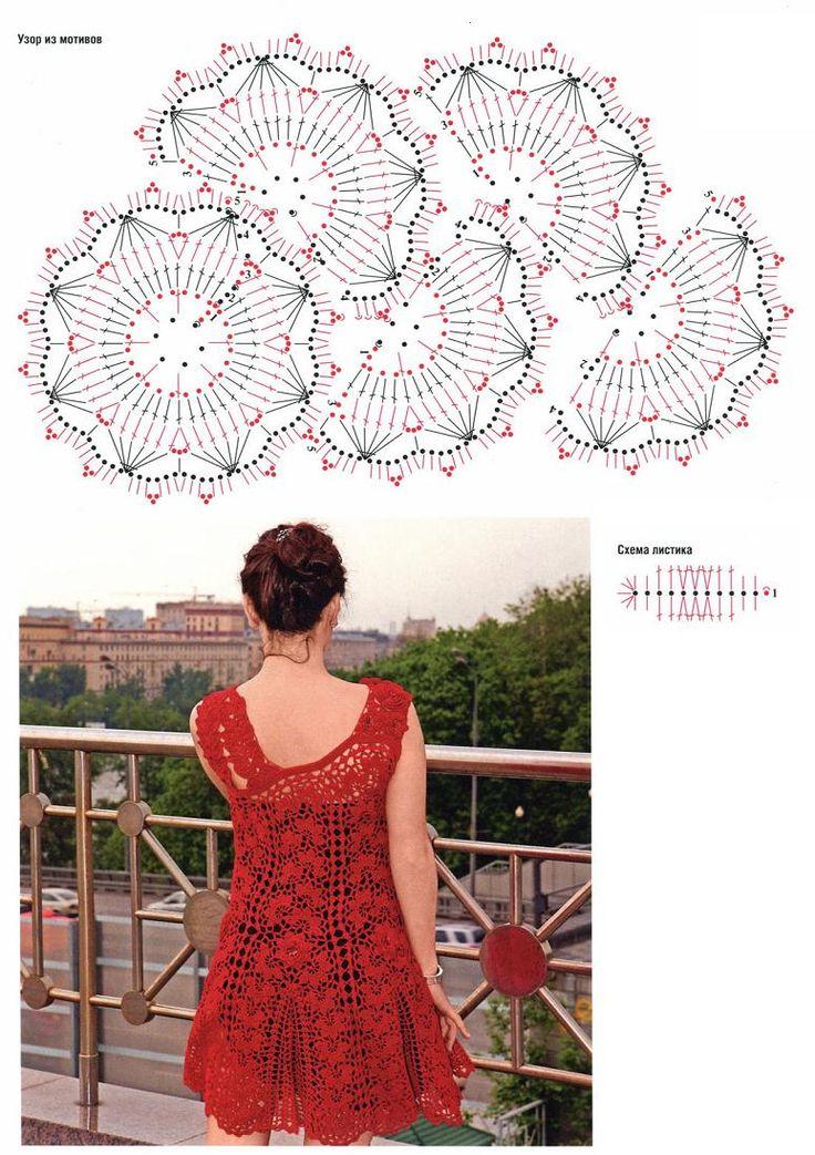 crafts for summer: red dress for women | make handmade, crochet, craft