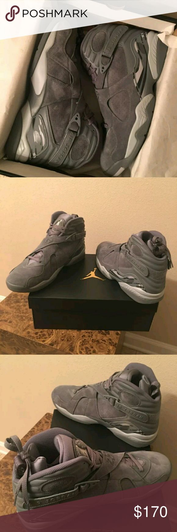 Air Jordan Retro 8 Suede Cool Grey Wolf Grey DS Deadstock And Brand New w/ Box. Price is highly negotiable if you buy today and Payment is not done thru Po$hmark. Texxt me ONLY when your READY TO PURCHASE 7 7 0 5 8 0 4 8 7 8 Jordan Shoes Athletic Shoes