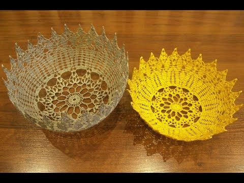 Ваза крючком из схемы салфетки часть 1(vase crochet part 1) - YouTube