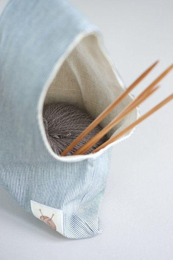 Tejer la bolsa proyecto bolsa bolsa de rayas bolso por OtterburnPQ