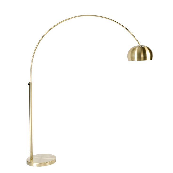 Een gouden booglamp die groot genoeg is om over je bank te plaatsen, dat moet je hebben als je genoeg licht wilt in je zithoek.