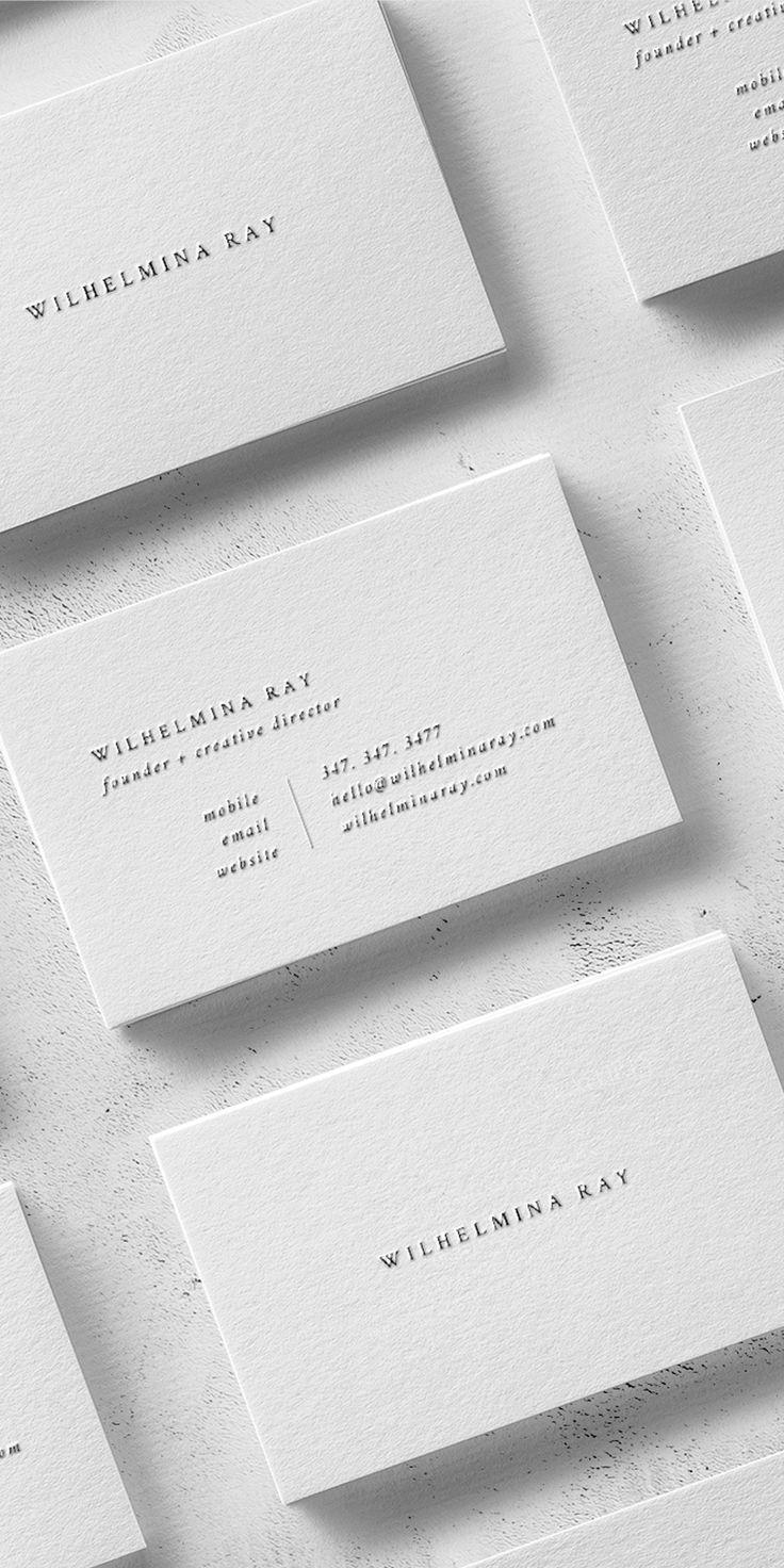 Wilhelmina Business Card Template The Denizen Co Business Card Design Minimal Graphic Design Business Card Business Card Design Creative