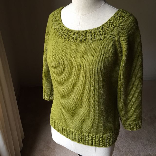 Ravelry: Project Gallery for Zig Zag Rib Raglan pattern by Patty Lyons