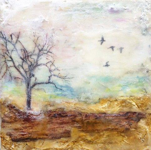 Encaustic Art by Angela Petsis; Mixed Media Painting by Angela Petsis