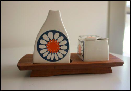 Vintage Figgjo Flint Turi Daisy Design Norway Cruet set